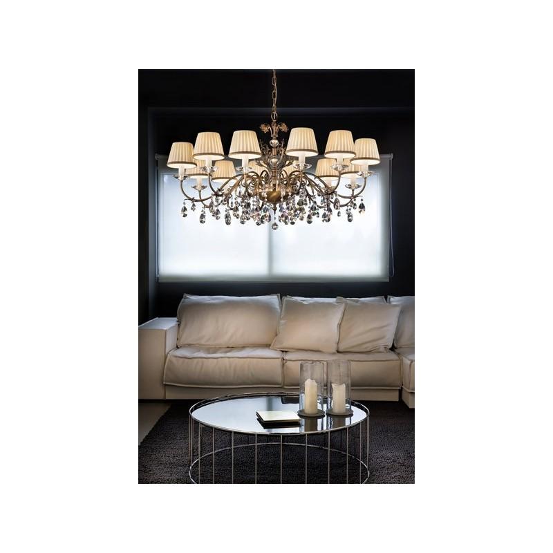 Masiero 6020 12 Primadonna lampadario classico per salone a sospensione