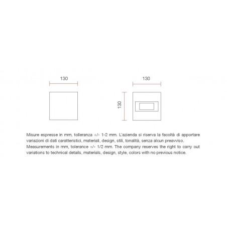 Belfiore 2336B applique doppia emissione led
