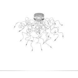 Rossini Bonny 5422-19 plafoniera moderna in metallo cromato bracci flessibili
