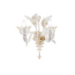 Rossini Meredith A.2040-2 lampada da parete classica in vetro di Murano