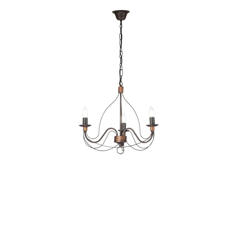 Rossini Felice FEL001 lampadario classico metallo stile rustico