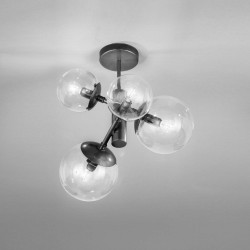 Global 262.350 Metal lux lampade moderne da soffitto, plafoniere per camere da letto