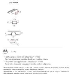 P004B di 9010 profilo in alumite per strip led 100 cm