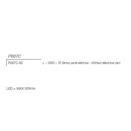 P007C di 9010 profilo alluminio 200 cm