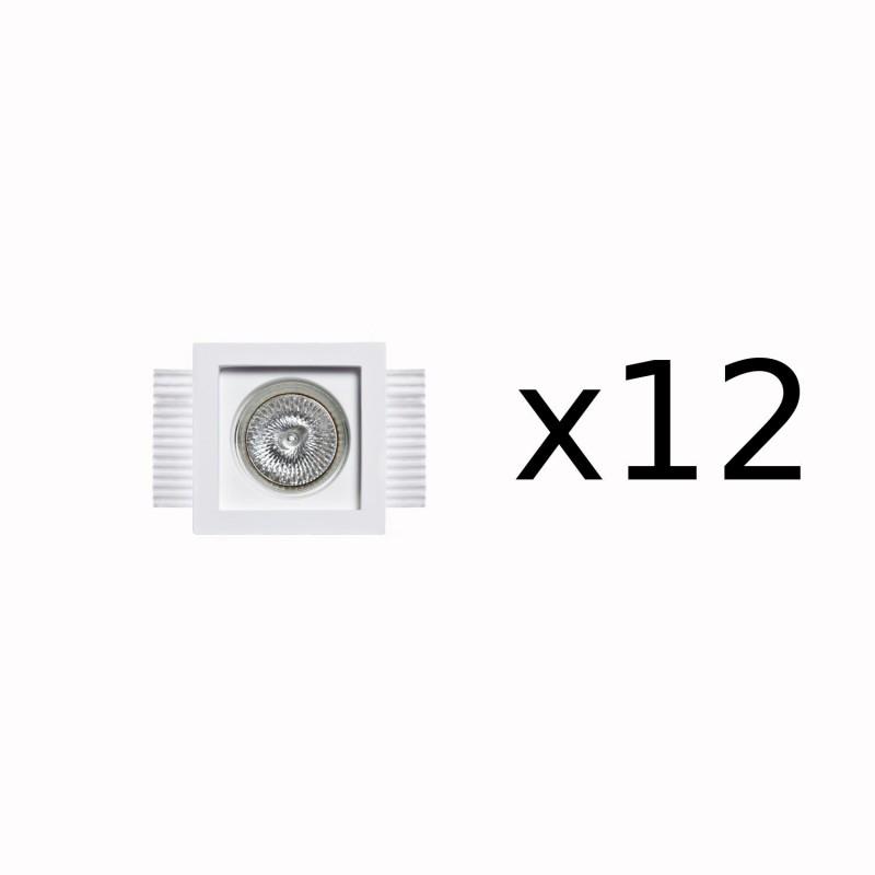 Belfiore 0028 faretti gesso prezzo, faretti a soffitto senza controsoffitto, faretti quadrati in gesso