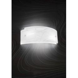 Nereide a GeaLuce lampada da parete moderna bianca serigrafata satinata