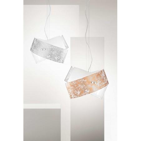 Camilla sm GeaLuce lampadario moderno luxury in vetro colorato finitura lucida