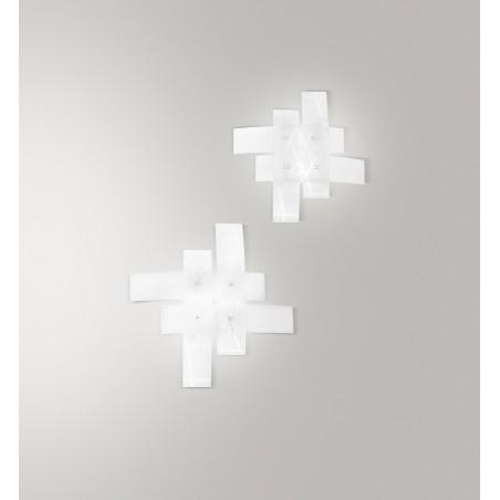 Frida pm GeaLuce lampada da soffitto moderna vetro satinato
