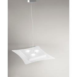 Isotta s GeaLuce lampadario LED moderno 69x62 bianco o tortora