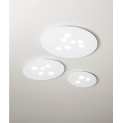 Luna pm GeaLuce plafoniera LED moderna 50x60 cm bianca o tortora