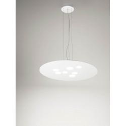Luna s GeaLuce lampadario moderno LED 60x72,5 cm bianco o tortora
