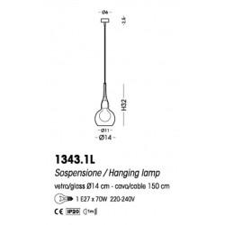 Cangini & Tucci 300G 1343.1L sospensione moderna