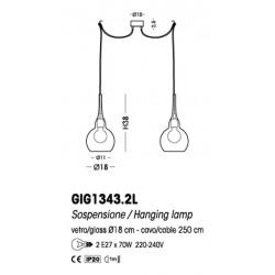 Cangini & Tucci 300G GIG1343.2L lampada a sospensione