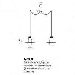Cangini e Tucci Zoe GIG1303.1L lampadario moderno
