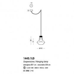 Cangini & Tucci AUF LABO 1443.1LD lampadario moderno LED